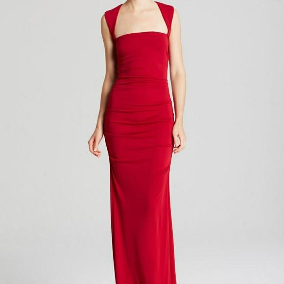 Nicole Miller Dresses | Red Gown Sleeveless Stretch 12 | Poshmark